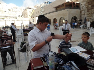 Ds13 on day of bar mitzva at Kotel