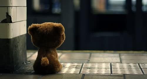 waiting teddy