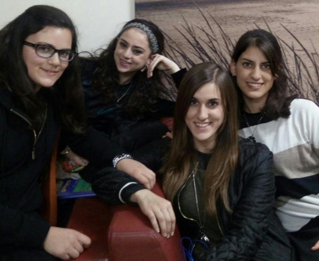 The four Werner girls - (l to r): dd17, dil1, dd22, dd21